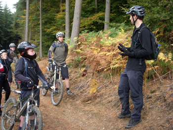 Group mountain bike skills course