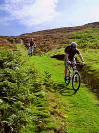 Guided mountain bike ride near Lastingham