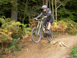 mountain bike training courses - drop-offs