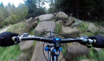 mountain bike skills course at Dalby Forest
